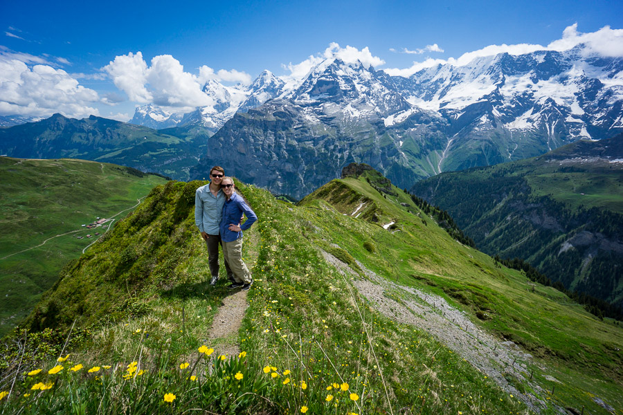 Hiking in Gimmelwald, Swiss Alps photo: Jake Wysocki, Every Day a New Adventure