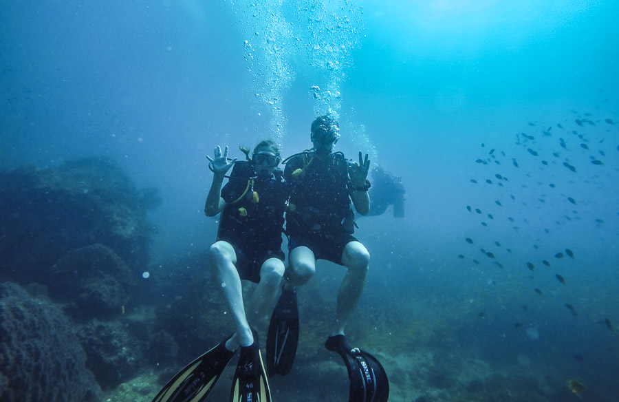 Scuba diving in Koh Phi Phi, Thailand photo: Jake Wysocki, Every Day a New Adventure